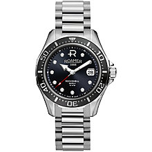 Buy Roamer Rockshell Mark III 220633 41 55 20 Men's Automatic Stainless Steel Watch, Silver Online at johnlewis.com