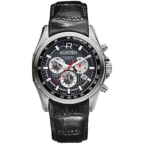 Buy Roamer Rockshell Chrono Men's Stainless Steel Watch Online at johnlewis.com