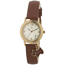 Buy Radley RY2140 Women's Stepped Bezel Leather Strap Watch, Brown / Gold Online at johnlewis.com
