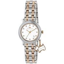 Buy Radley RY4127 Women's Two Tone Diamante Detail Bracelet Strap Watch, Silver/Rose Gold Online at johnlewis.com