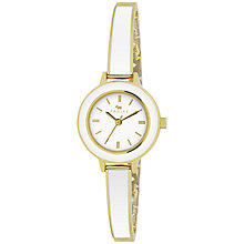 Buy Radley RY4144 Women's Two Tone Bangle Bracelet Watch, White / Gold Online at johnlewis.com