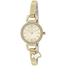 Buy Radley RY4152 Women's Diamante Bezel Slim Bracelet Watch, Gold Online at johnlewis.com