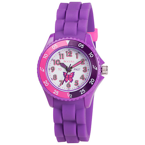 Buy Tikkers TK0041 Children's Butterfly Watch, Purple Online at johnlewis.com