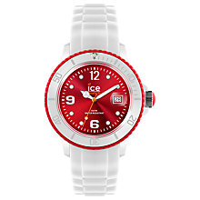 Buy Ice-Watch  SI.WD.U.S.12 Resin and Rubber Watch, Red / White Online at johnlewis.com