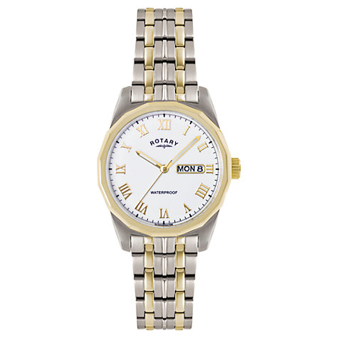 Buy Rotary GB02227/02 Men's Two Tone Stainless Steel Watch, Silver / Gold Online at johnlewis.com