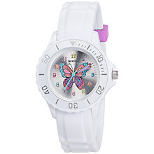 Buy Tikkers TK0052 Children's Butterfly Watch, White Online at johnlewis.com