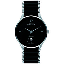 Buy Roamer Ceraline Saphira CV10.00ROX Men's Stainless Steel and Ceramic Watch, Black Online at johnlewis.com