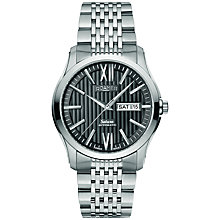 Buy Roamer Saturn 941637 41 53 90 Men's Automatic Stainless Calendar Watch, Silver Online at johnlewis.com