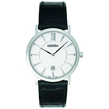 Buy Roamer Limelight 934856 41 25 09 Men's Leather Strap Watch, White Online at johnlewis.com
