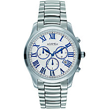 Buy Roamer Osiris Chrono 530837 41 12 50 Men's Stainless Steel Watch, Silver / Blue Online at johnlewis.com