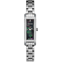 Buy Roamer Dreamline V 623831 41 55 60 Women's Mother of Pearl Stainless Steel Strap Watch, Silver / Black Online at johnlewis.com