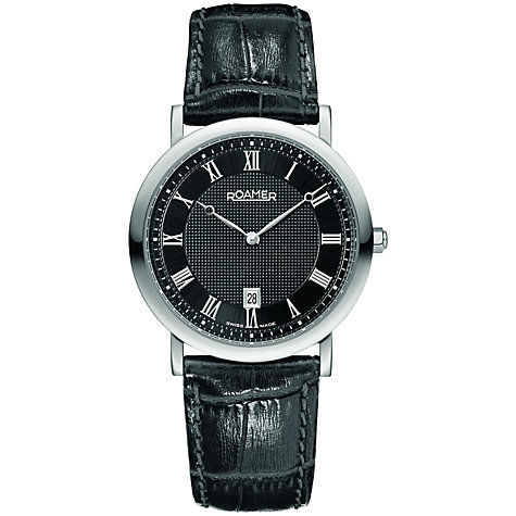 Buy Roamer Limelight Men's Leather Strap Textured Dial Watch Online at johnlewis.com