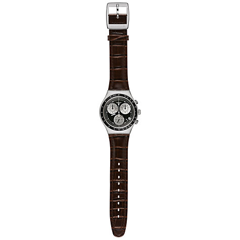 Buy Swatch YCS572 Men's Moccasin Chronograph Watch, Brown / Black Online at johnlewis.com