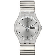 Buy Swatch SUOK700A Unisex Stainless Steel Resolution Watch, Clear Online at johnlewis.com