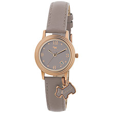 Buy Radley RY2130 Women's Stepped Bezel Leather Strap Watch, Rose Gold / Grey Online at johnlewis.com