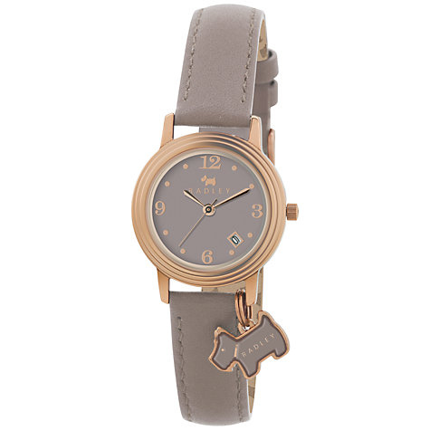 Buy Radley Women's Stepped Bezel Leather Strap Watch Online at johnlewis.com