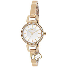 Buy Radley RY4154 Women's Diamante Bezel Slim Bracelet Watch, Rose Gold Online at johnlewis.com