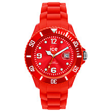 Buy Ice-Watch SI.RD.U.S.12 Resin and Rubber Watch, Red Online at johnlewis.com