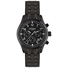 Buy Rotary GB02681/19 Men's Ion Plated Chronograph Watch, Black Online at johnlewis.com