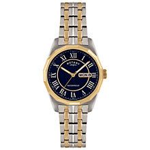 Buy Rotary GB02227/05 Mens' Gold PVD Plated Watch, Silver / Gold Online at johnlewis.com