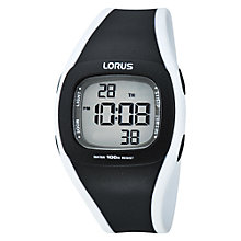 Buy Lorus Children's Plastic Digital Chronograph Watch Online at johnlewis.com
