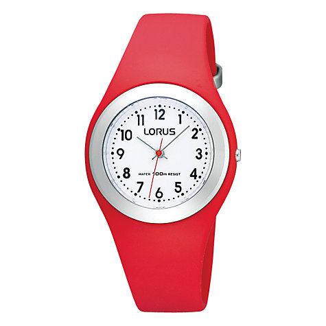 Buy Lorus Children's Quartz Movement Rubber Strap Watch Online at johnlewis.com