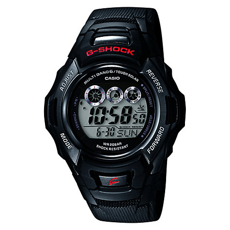 Buy Casio GW-M530A-1ER Men's G-Shock Radio Controlled Chronograph Watch, Black Online at johnlewis.com