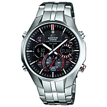 Buy Casio EFA-135D-1A4VEF Men's Edifice Alarm Chronograph Watch, Black Online at johnlewis.com