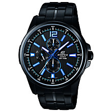 Buy Casio EF-343BK-1AVEF Men's Edifice Day/Date Watch, Black Online at johnlewis.com