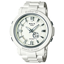 Buy Casio BGA-300-7A1ER Women's Baby-G Resin Alarm Watch, White Online at johnlewis.com