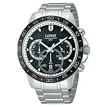Buy Lorus RT395BX9 Men's Stainless Steel Chronograph Watch, Silver / Black Online at johnlewis.com