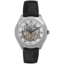Buy Rotary GS90508/02 Men's Jura Skeleton Dial Automatic Watch, Black / Silver Online at johnlewis.com