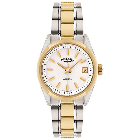 Buy Rotary LB02660/07 Women's Two Tone Stainless Steel Watch, Silver / Gold Online at johnlewis.com