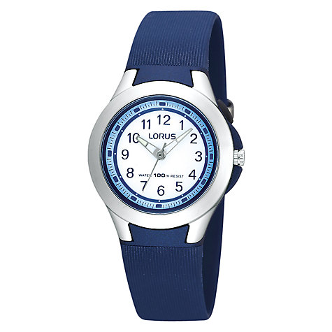 Buy Lorus Children's Stainless Steel Bezel Rubber Strap Watch Online at johnlewis.com