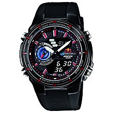 Buy Casio EFA-131RBSP-1BVEF Men's Edifice Red Bull Special Edition Watch, Black Online at johnlewis.com