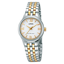 Buy Lorus RRS99TX9 Women's Stainless Steel Two-Tone Watch, Silver / Gold Online at johnlewis.com