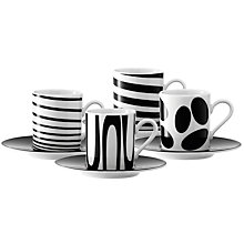 Buy LSA Coffee Cup & Saucer, Set of 4 Online at johnlewis.com