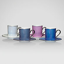 Buy LSA Zanzi Coffee Cup and Saucer Set, Box of 4 Online at johnlewis.com