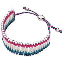 Buy Links of London Woven Cuff Silver Friendship Bracelet Online at johnlewis.com