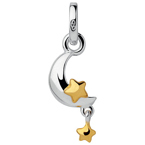 Buy Links of London Moon and Stars Charm, Silver / Gold Online at johnlewis.com