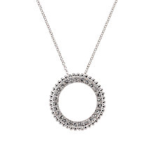 Buy Cachet London Swarovski Crystal O Pendant Necklace, Rhodium Online at johnlewis.com
