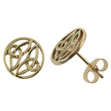Buy Nina B 9ct Gold Celtic Knot Stud Earrings Online at johnlewis.com