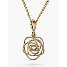 Buy Nina B 9ct Gold Open Rose Pendant Online at johnlewis.com