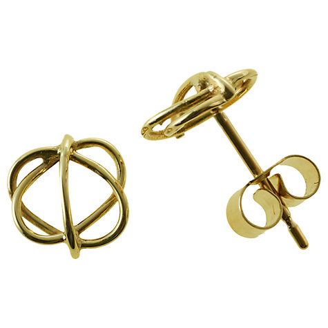 Buy Nina B 9ct Yellow Gold Open Circle Stud Earrings Online at johnlewis.com