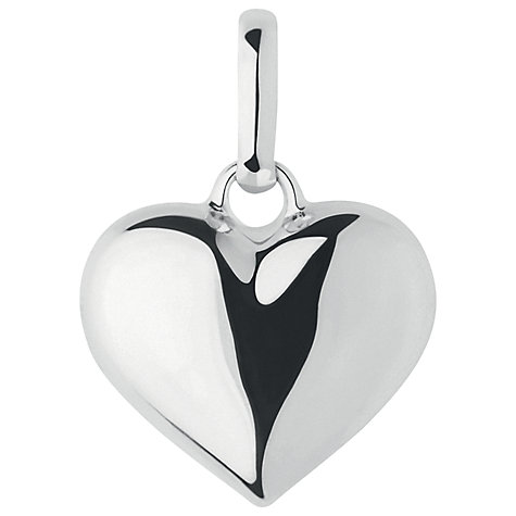 Buy Links of London Large Anniversary Heart Charm, Silver Online at johnlewis.com