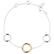 Buy Links of London 20/20 Bi-Metal Loop Bracelet, Silver / Gold Online at johnlewis.com