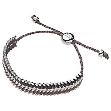 Buy Links of London Herringbone Friendship Bracelet, Beige / Grey Online at johnlewis.com