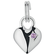 Buy Links of London Stone Set Silver Mini Heart Charm Online at johnlewis.com