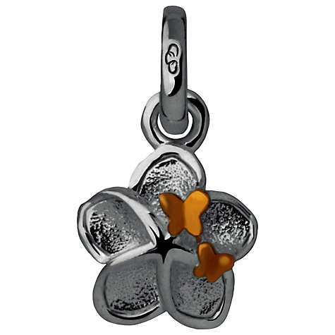 Buy Links of London Flower and Butterfly Charm, Silver / Gold Online at johnlewis.com