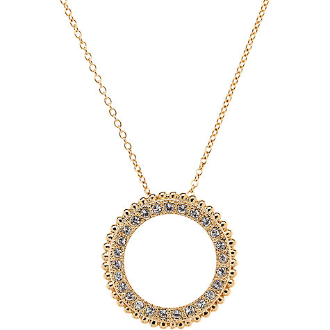 Buy Cachet Gold Plated Swarovski Crystal Bree Pendant Necklace Online at johnlewis.com